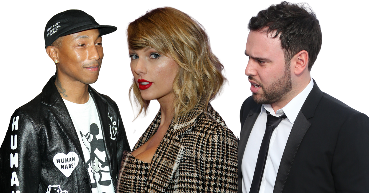 pharrell, taylor swift and scooter braun