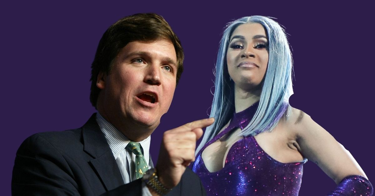 Tucker Carlson and Cardi B